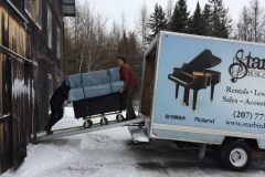 Sherwin and Eric arrive with more pianos