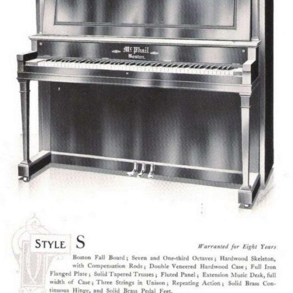 McPhail 1912 catalogue model S.