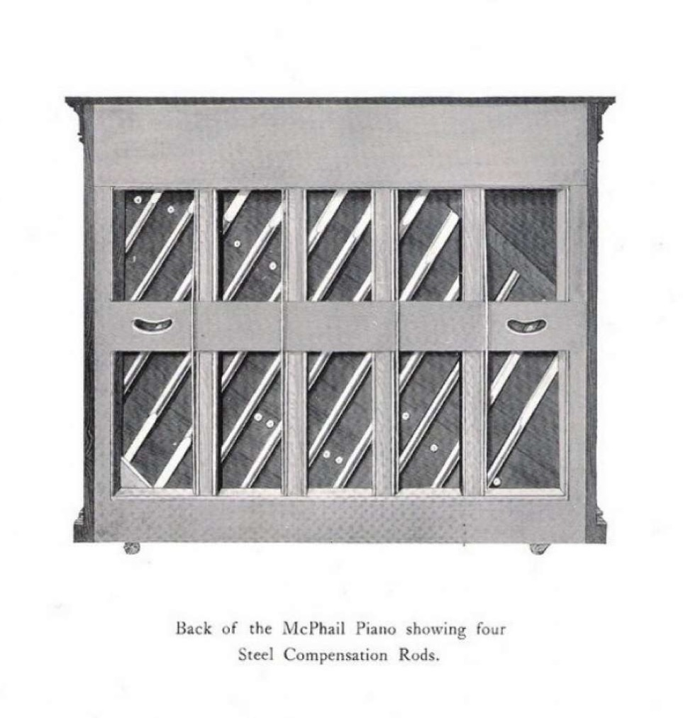McPhail 1912 catalogue Compensation Rods.