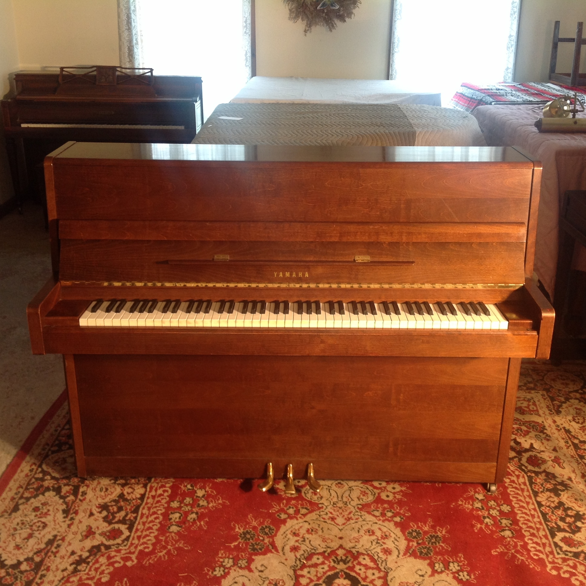 Restored yamaha studio upright piano for sale vermont for Yamaha piano upright